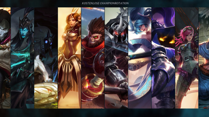 League of Legends - Kostenlose Champion Rotation 27. September 2016