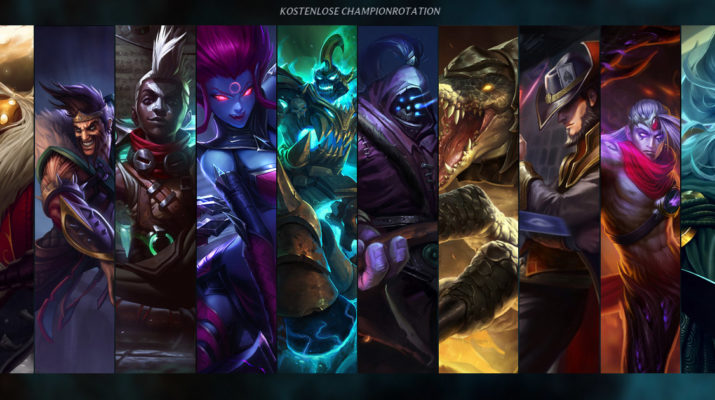 League of Legends - Kostenlose Champion Rotation 01. November 2016